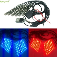 1 Set 12PCS RGB LED Car Motorcycle Chopper Frame Flexible Neon Strips Kit Sz0120
