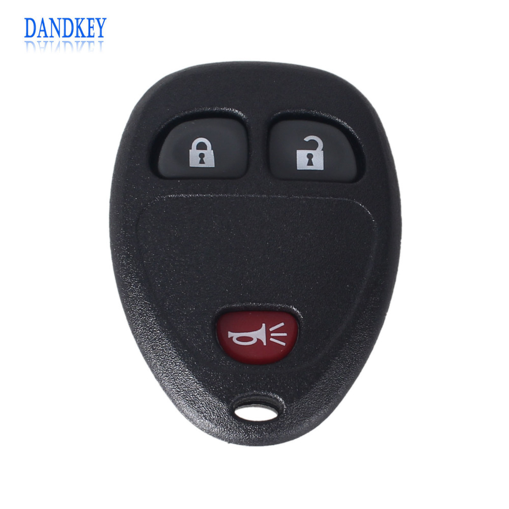 Dandkey 10x for buick for gmc chevrolet enclave 2009 2014 remote ouc60270g 3 buttons car key shell fob entry keyless