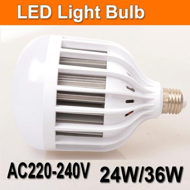 220v Lamp Smd 2835 24w 36 Watts Aluminum High Bright Led Bulb Light E27 Home Hotel Office Lights
