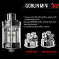 100% Original Youde UD Goblin Mini V3 RTA Tank Top-filling with Two 16mm Decks Atomizer Tank 4ml Electronic Cigarette Hookah