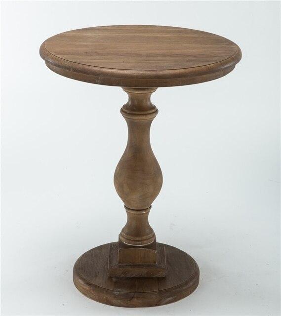 en bois massif petite table ronde am ricain canap c t table europ enne minimaliste ronde th. Black Bedroom Furniture Sets. Home Design Ideas