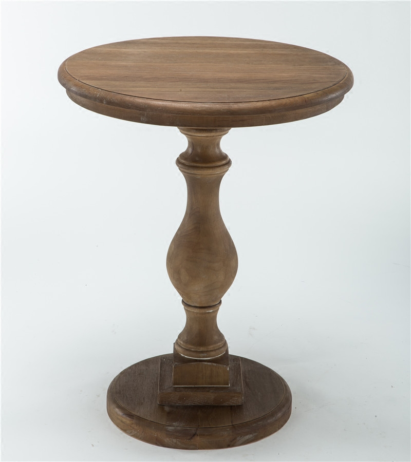 Solid wood small round table American sofa side table European minimalist round tea table Small coffee side table