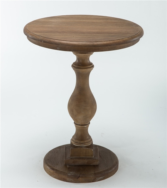 solid wood small round table american sofa side table
