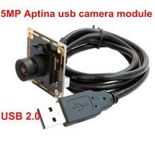 Cheaper 6mm lens 5.0Megapixel Max.Resolution 2592×1944 HD 1/2.5 Aptina MI5100 CMOS Digital Camera Microscope Endoscope usb camera module
