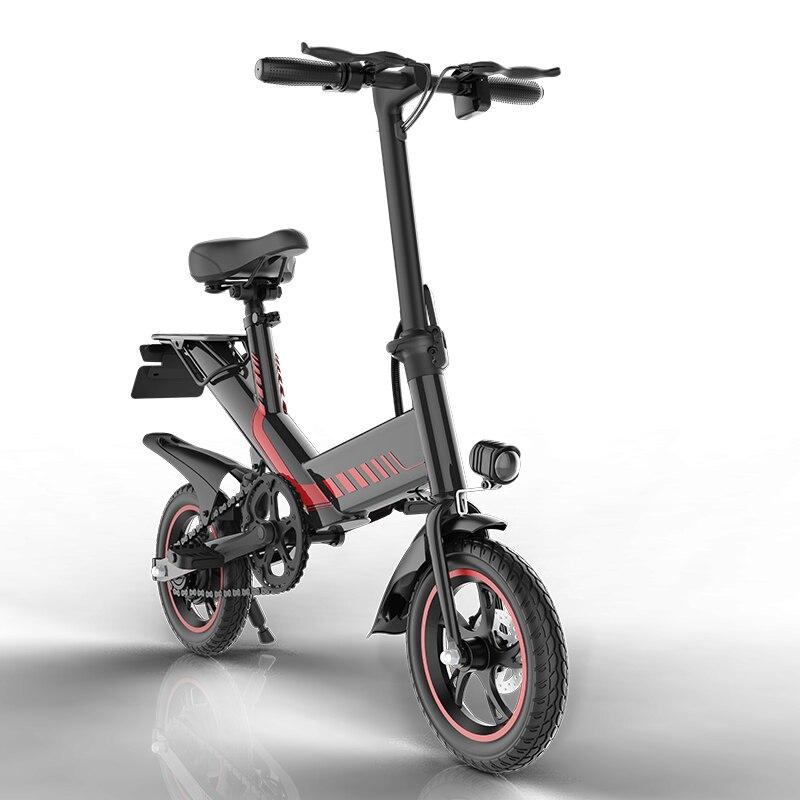 Y2 48V 7.5Ah Smart E Bike 400W Rear Suspension Disc Brake Foldable E Bicycle Mini Folding Electric Bike