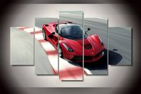 Unframed Printed Red Sports Car Painting On Canvas Room Decoration Print Poster Picture Canvas Free Shipping Painting By Numbers