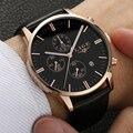 LIGE Relojes Para Hombre Relojes de Primeras Marcas de Lujo Reloj de Cuarzo de Cuero de Los Hombres Los Hombres Moda Casual Impermeable Reloj relogio masculino