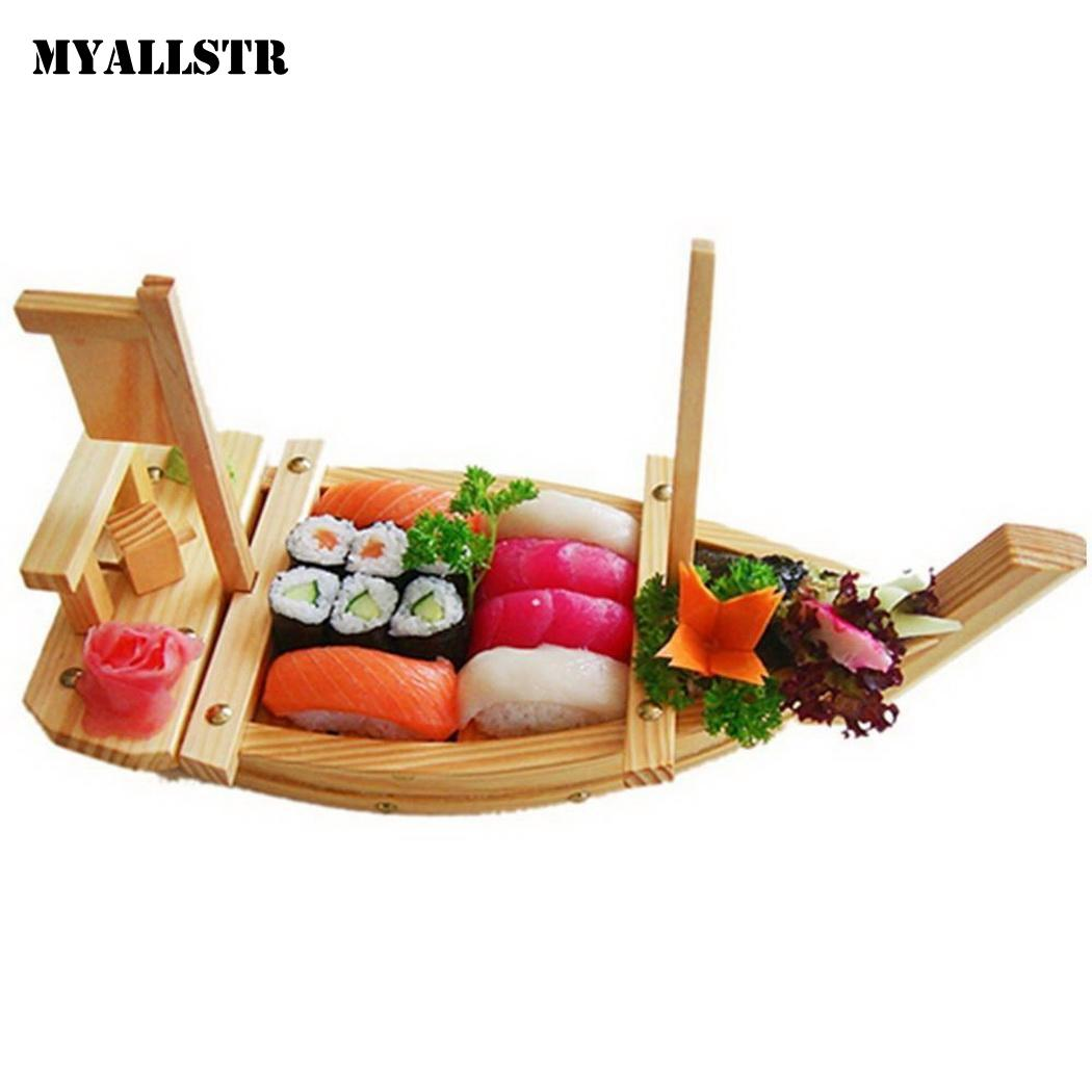 DIY Kitchen Sashimi Sushi Container Tools Light Brown Connecting Home Rod Sushi Solid Adults Boat