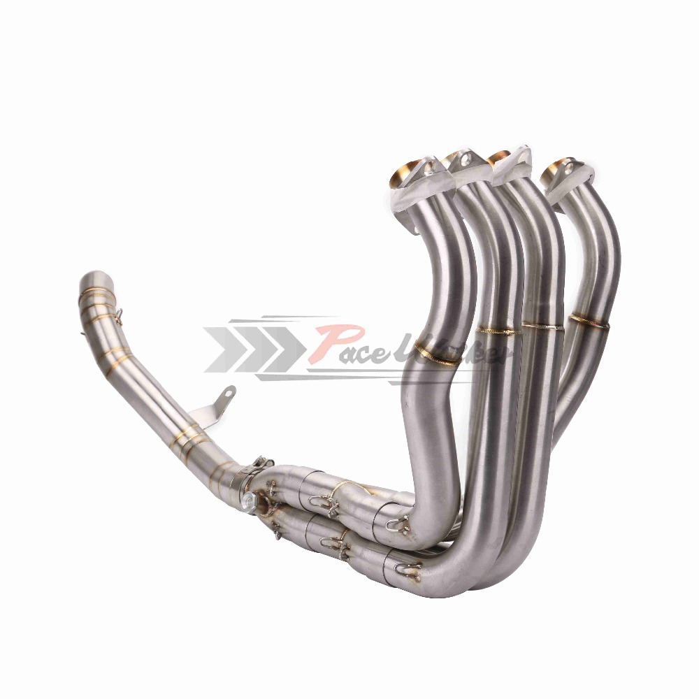 Motorcycle Exhaust Muffler Front Link Pipe Motorcycle Exhaust Muffler Escape Pipe Connection Damper for Z900 2017 exhaust