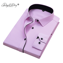 DAVYDAISY 2019 Men Shirt Long Sleeved Male Casual Business Dress Shirts Slim Fit White Work Shirt Men camisa masculina DS167