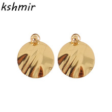 Metal geometrical irregular circular smooth earrings popular fashion stud delicate