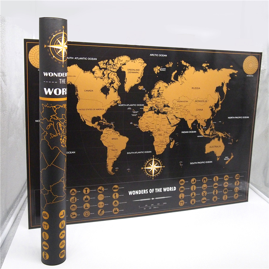 Scratch Map The World Travel Edition Deluxe Scratch f Map
