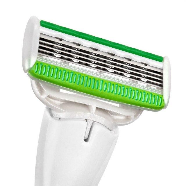 Сменные картриджи для бритья QShave Green Series Lady