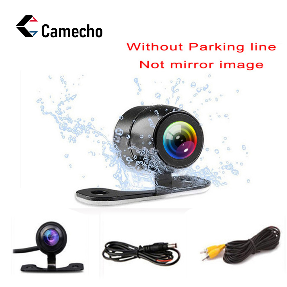 Camecho Vehicle Camera HD CCD Car Rear View Camera Rearview Back Parking Monitor Wide Degree Universal Auto Camera Night Vision(China)