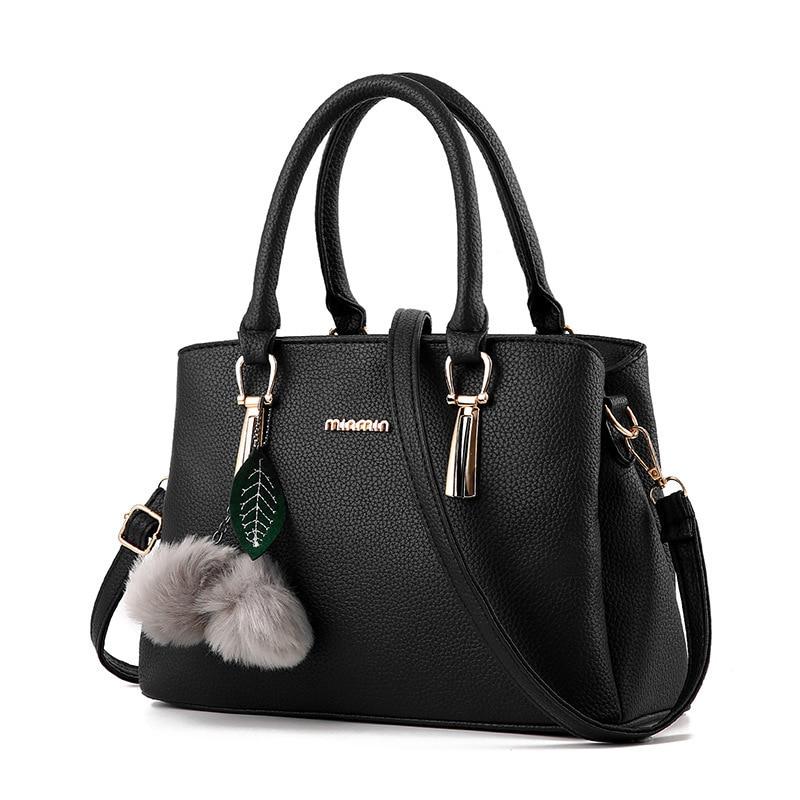 Women Messenger Bags Large Capacity Shoulder Tote Bags PU Leather Handbags Larger Top-Handle Bags
