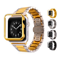 Watchbands For AppleWatch Band Stainless Steel 42MM Band & Protective Case Wholesale For AppleWatch Men Jewelry APB135