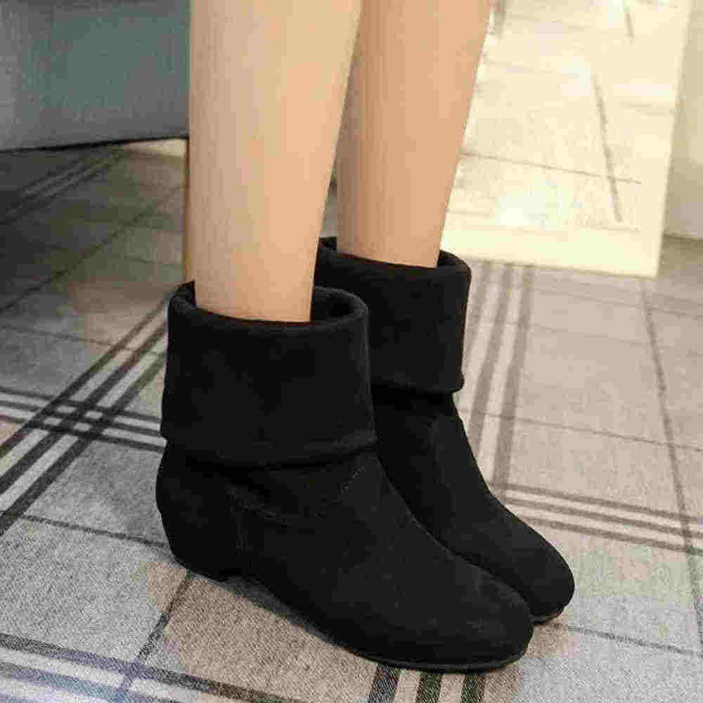 CAGACE 2018 Women Autumn Winter Boots Women Sweet Boot  Flat Flock Shoes Snow Boots Girls Warm Shoes botas Dropshipping