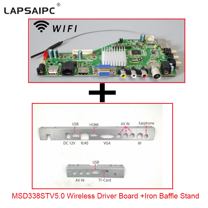 US $9 45  MSD338STV5 0 Smart Wireless Network TV Driver Board Universal LCD  Motherboard LED Controller Board For Android WI FI ATV Free S-in Computer