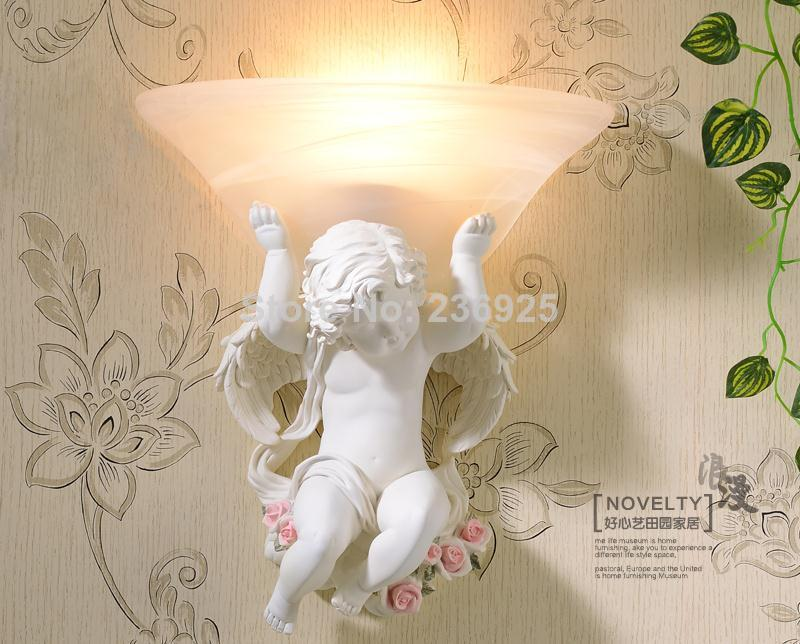 Resin Angel light Carving Love Cupid Romance Wall Lamp WLL-8