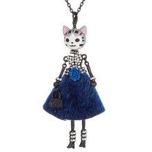 Ожерелье с кулоном в виде милой головы кота куклы принцессы