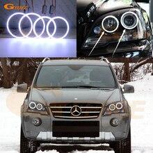 Для Mercedes Benz M класса W164 мл 320 350 450 500 550 2008-2011 отлично Ультра яркое освещение COB комплект светодиодов «глаза ангела»