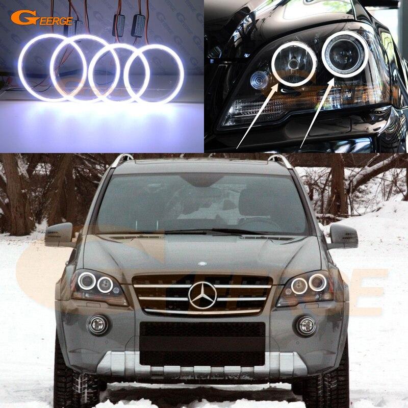 цена на For Mercedes Benz M Class W164 ML 320 350 450 500 550 2008-2011 Excellent Ultra bright illumination COB led angel eyes kit