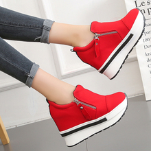 10cm High Heels Casual Shoes Woman Platform Wedges Fashion W