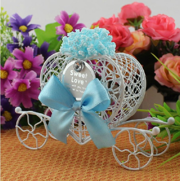 500 pcs cinderella carriage candy boxes pumpkin carriage candy box