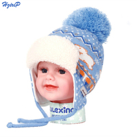 Crochet Baby Hat Winter Keep Warm Hats With Fur Pelz Top Fitted Kids Accessories Winter Baby