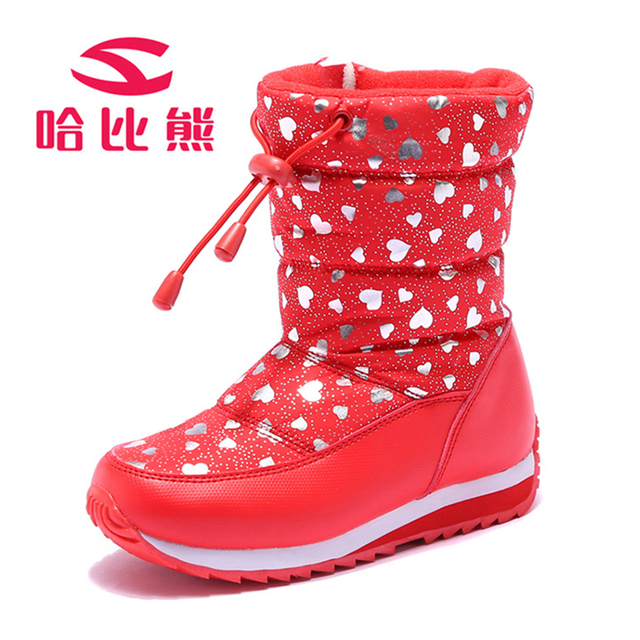 Russia Winter Warm Boots Children Boots Heart Pattern Waterproof Lace Up  Kids Shoes Girls Boys Snow Boots Perfect for Kids Shoes 2e47b8615fd4