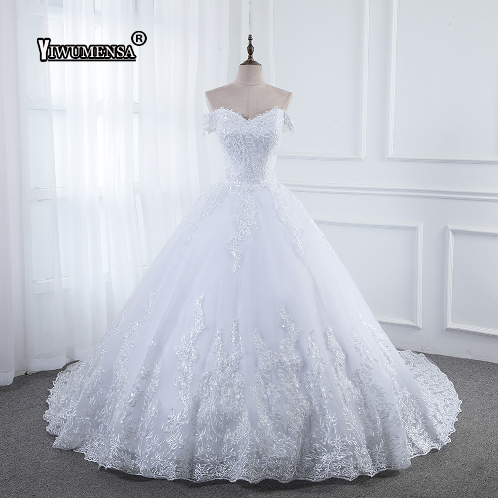 Vestido De Noiva 2018 Princess Wedding Dress Ball Gown Off: Robe De Mariee 2018 Princess Applique Lace Sweetheart