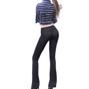 bd58552955d81a Ejqyhqr Sexy Women Flare Pants Trousers Silk Leggings