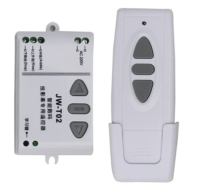 JW-T02 AC 220V Motor Wireless Remote Control Switch UP Down Stop Tubular Motor Controller Motor Forward Reverse TX RX Latched wireless remote control switch system ac 220v 10a motor forward reversal reverse controller up down stop garage door for curtain