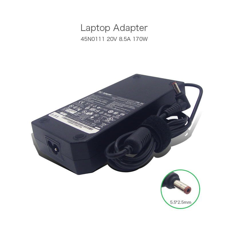 RongTop 100% Original 20V 8.5A 170W 5.5*2.5mm45N0111 36200401 Laptop AC Adapter for For Lenovo ThinkPad Y500 Y500N Power Supply