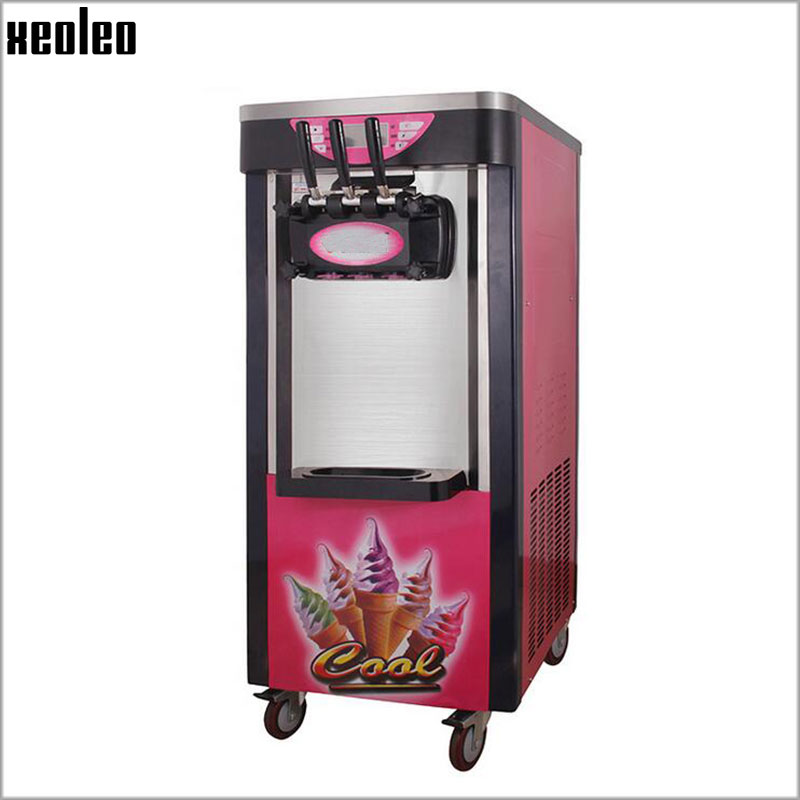 Xeoleo Commercial Ice cream maker 3 flavors Soft Ice cream machine 18L/22L/30L/38L 220V make Yogurt ice cream R22/R404 golub женская б1186 2713