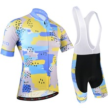 Cycling Clothing For Men Summer Cycling Jersey With Bib Shorts 5D Gel Pad Cycle Sets Of Pro Team Bike Wear And Bike Jersey 189 accept sample order cycling body lycra bike wear with customized pad gel cycling jersey