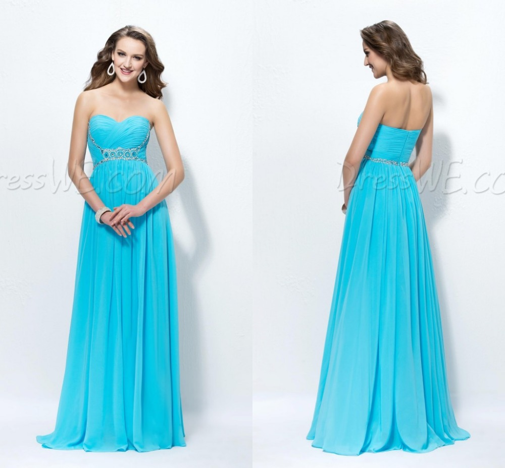 Long cheap bridesmaid dress plus size for casual women for Blue beach wedding dresses