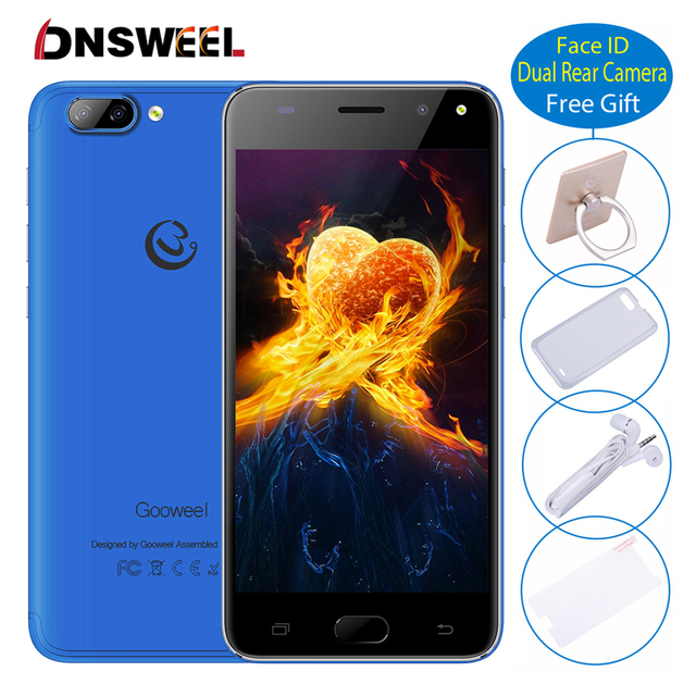 Gooweel S11 Face Identification unlocked Smartphone 5MP+2MP Camera 5.0 inch Screen Cell phone MTK6580 Quad core 3G mobile phone