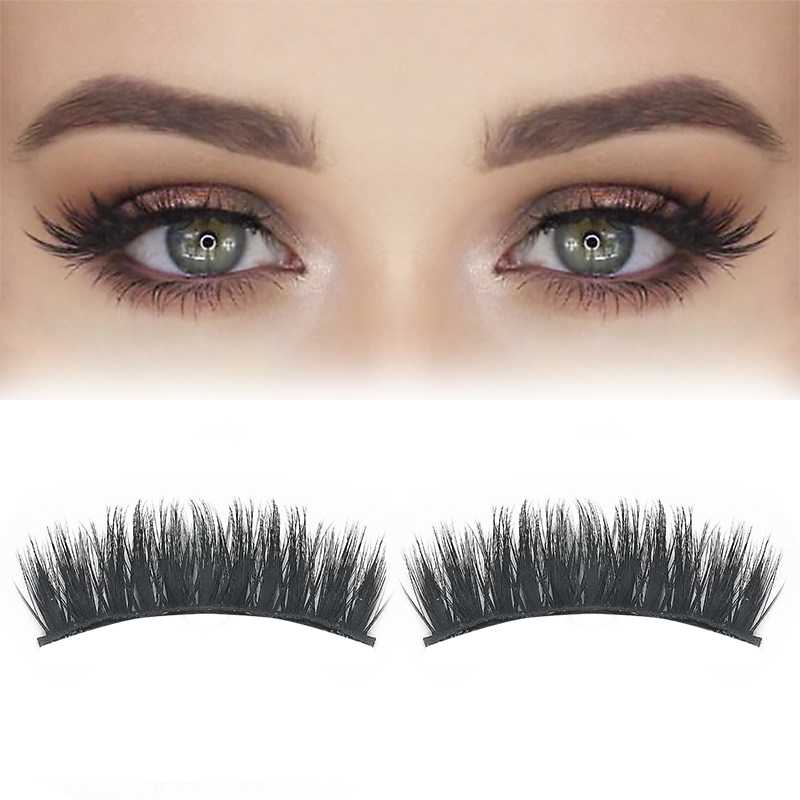 ELECOOL 2/1pcs 3D Magnetic Long Arc-Shaped Mink False Eyelashes Eye Lashes Ultra Thin Ultra-Lightweight Extension Tools