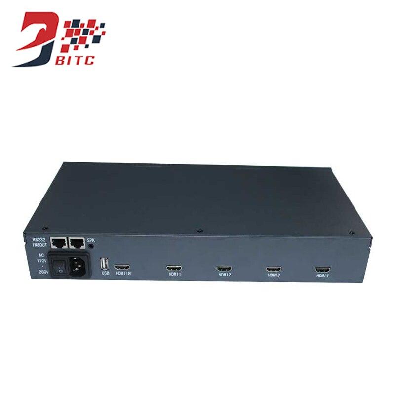 SZBITC 2x2 Controller Video Wall 1080 P HDMI Splicing Processore TV Dello Schermo di 180 Gradi di Rotazione Con Telecomando di Controllo