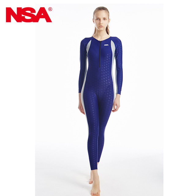 2abee85ce6 NSA swimwear women competition swimsuit female arena swimming suit shark  plus size racing swimsuits full body competitive-in Men's Body Suits from  Sports ...