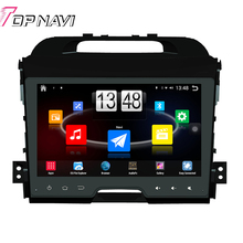 "9"" Quad Core Android 4.4 Car PC Stereo GPS For KIA Sportage 2011 With Multimedia Radio Audio Wifi BT 16 GB Flash Without DVD"