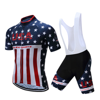 Teleyi 2017 USA Style Pro Racing Cycling Jersey Set Ropa Ciclismo Summer Bicycle Cycling Clothing Maillot MTB Bike Jersey Clothe