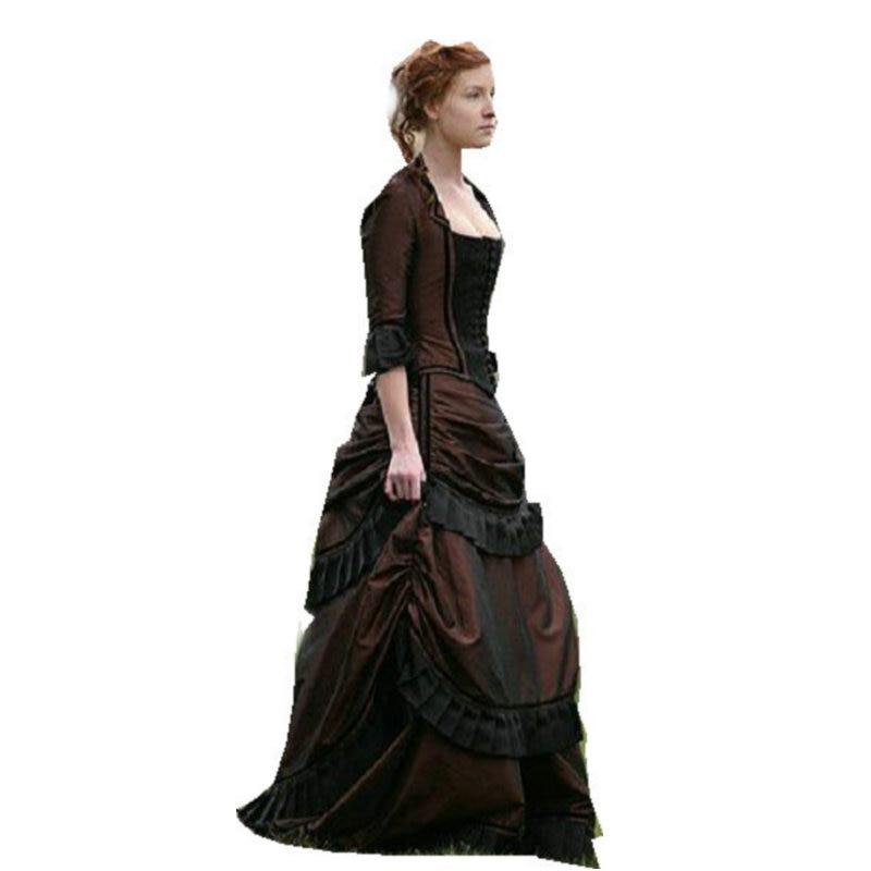 899b94416 صنع العملاء التاريخي 17 القرن ازياء فساتين النهضة ثوب steampunk خمر القوطية  تأثيري هالوين فساتين C-1201