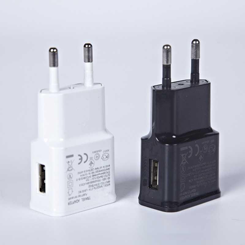 شاحن يو اس بي 5 فولت 2A 1 USB الاتحاد الأوروبي التوصيل لسامسونج آيفون الهاتف المحمول شحن محول الطاقة مايكرو شاحن السفر لباد العالمي