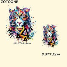 ZOTOONE Applique Heat Transfer Patch Iron on Transfers for Clothes T Shirt Dress Vintage Animal Tiger Washable Thermo Stickers E