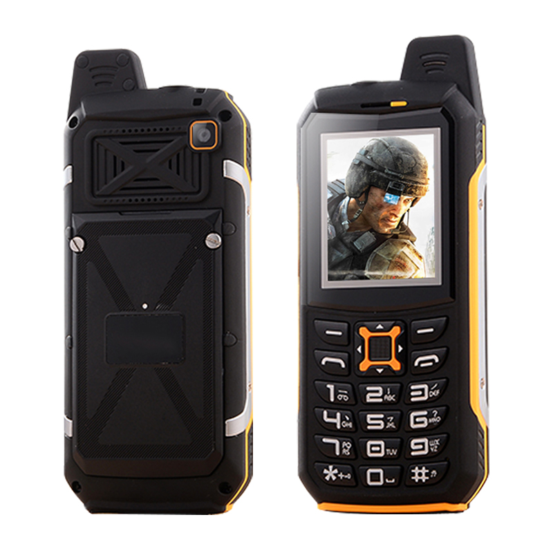 Цена за KUH M21 IP68 водонепроницаемый двойной sim карты, фонарик power bank fm радио диктофон пыле противоударный прочный мобильный телефон P020