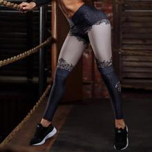 3D Flower Print Mid Waist Fitness Leggings Women Sexy Slim Push Up Pencil Trousers Girl Autumn Winter Elastic Workout Pant