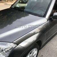 Cinza escuro Metálico Antracite GLOSS Vinil Para Carro Envoltório com bolha de ar Livre Gunmetal Brilhante Cobrindo Filme preço Barato|Adesivos para carro| |  -