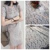 3M Lot Black And White Lace Fabric Cloth DIY Clothing Cloth Art Home Decoration Accessories Materials